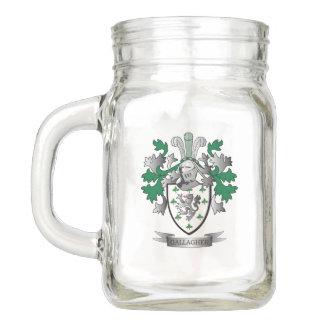 Gallagher Coat of Arms Mason Jar