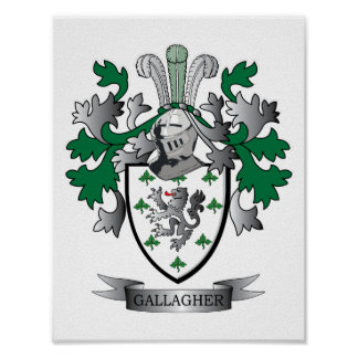 Gallagher Coat of Arms Poster