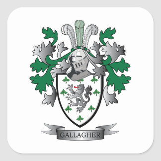 Gallagher Coat of Arms Square Sticker