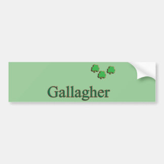 Gallagher Family Bumper Sticker