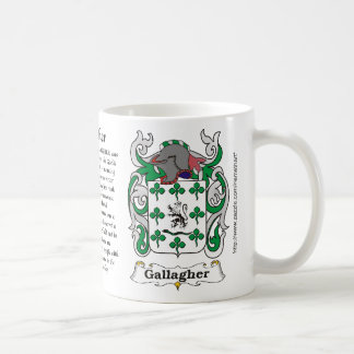Gallagher Family Coat of Arms mug