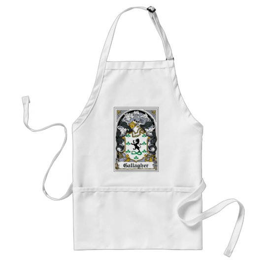Gallagher Family Crest Adult Apron