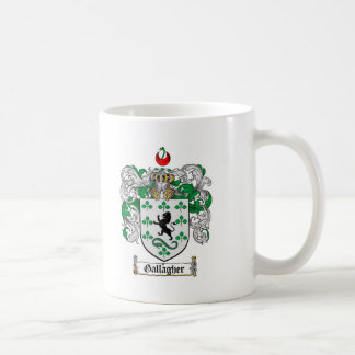 GALLAGHER FAMILY CREST -  GALLAGHER COAT OF ARMS COFFEE MUG