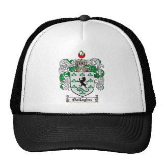 GALLAGHER FAMILY CREST -  GALLAGHER COAT OF ARMS TRUCKER HAT