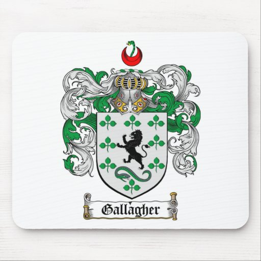 GALLAGHER FAMILY CREST -  GALLAGHER COAT OF ARMS MOUSE PAD