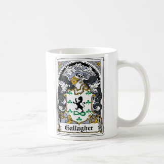 Gallagher Family Crest Classic White Coffee Mug