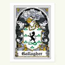 Gallagher Family Crest Postcard