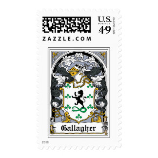 Gallagher Family Crest Postage