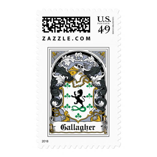 Gallagher Family Crest Stamp