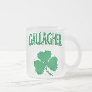 Gallagher Irish 10 Oz Frosted Glass Coffee Mug