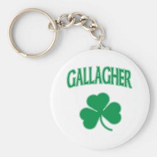 Gallagher Irish Basic Round Button Keychain