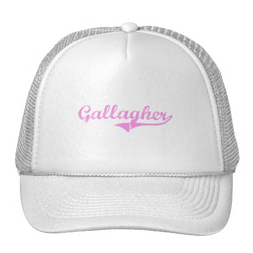 Gallagher Last Name Classic Style Trucker Hats