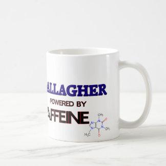 Gallagher powered by caffeine coffee mugs