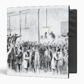 Gallagher's stock exchange (engraving) (b/w photo) 3 ring binder