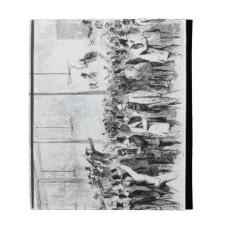 Gallagher's stock exchange (engraving) (b/w photo) iPad folio covers