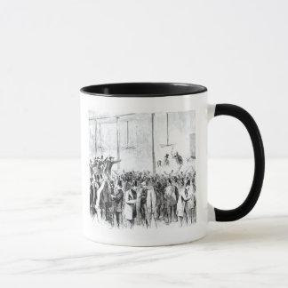Gallagher's stock exchange (engraving) (b/w photo) mug
