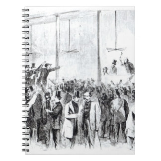 Gallagher's stock exchange (engraving) (b/w photo) note book
