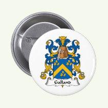 Galland Family Crest Button