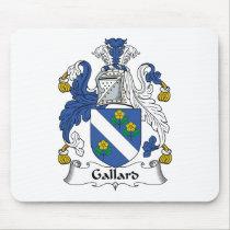 Gallard Family Crest Mousepad