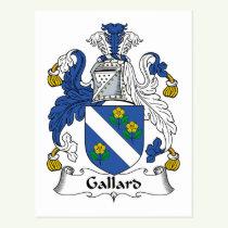 Gallard Family Crest Postcard