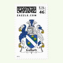 Gallard Family Crest Stamps