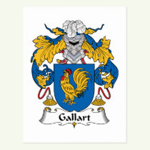 Gallart Family Crest Postcard