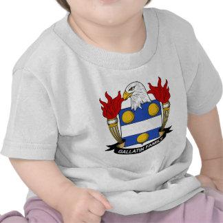 Gallatin Family Crest Tshirt