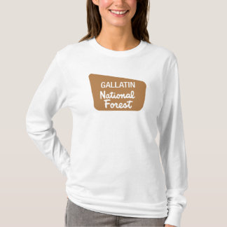 Gallatin National Forest (Sign) T-Shirt