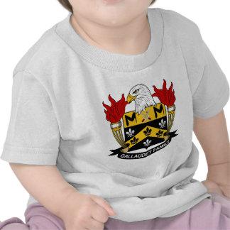 Gallaudet Family Crest Tshirt