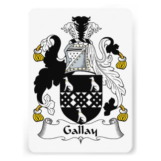 Gallay Family Crest Personalized Invites