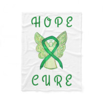 Gallbladder Cancer Awareness Ribbon Angel Blanket