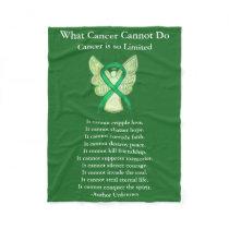Gallbladder Cancer Awareness Ribbon Angel Blankets