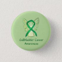 Gallbladder Cancer Awareness Ribbon Angel Pin