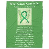 Gallbladder Cancer Awareness Ribbon Chemo Blanket