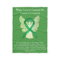 Gallbladder Cancer Awareness Ribbon Fleece Blanket