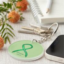 Gallbladder Cancer Awareness Ribbon Keychain