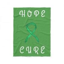 Gallbladder Cancer Awareness Ribbon Soft Blanket