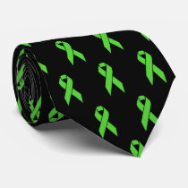 Gallbladder Cancer Awareness Support Ribbon Neck Tie
