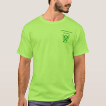 Gallbladder Cancer Green Awareness Angel Shirt