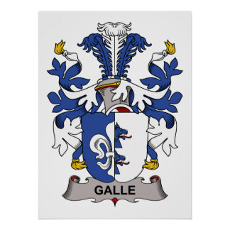 Galle Family Crest Posters