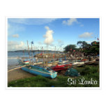 galle fort boats postcard