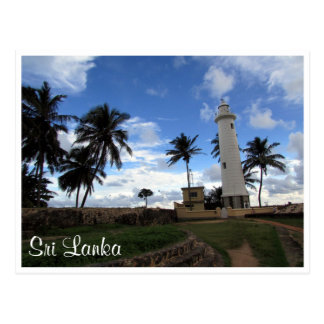 galle fort lighthouse postcard