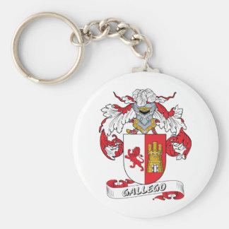 Gallego Family Crest Keychain