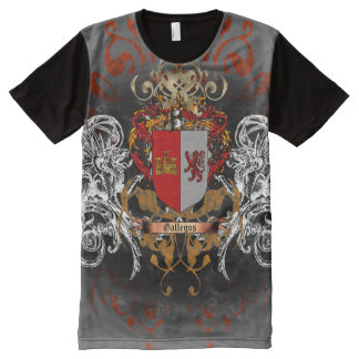 Gallegos Coat of Arms All-Over-Print T-Shirt