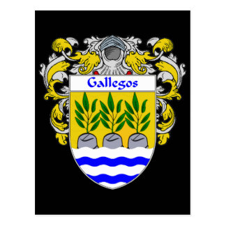 Gallegos Coat of Arms Postcard