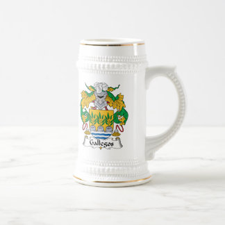 Gallegos Family Crest Beer Stein