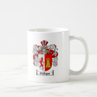 GALLEGOS FAMILY CREST -  GALLEGOS COAT OF ARMS COFFEE MUG