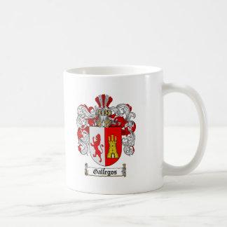GALLEGOS FAMILY CREST -  GALLEGOS COAT OF ARMS COFFEE MUG
