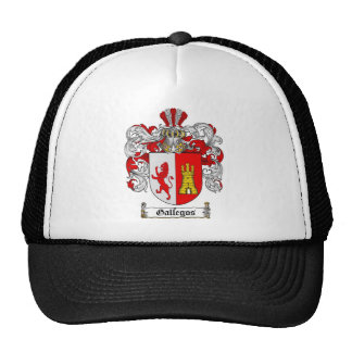 GALLEGOS FAMILY CREST -  GALLEGOS COAT OF ARMS TRUCKER HAT