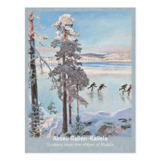 Gallen-Kallela Kalela Scaters Luistelijat CC0812 Postcard